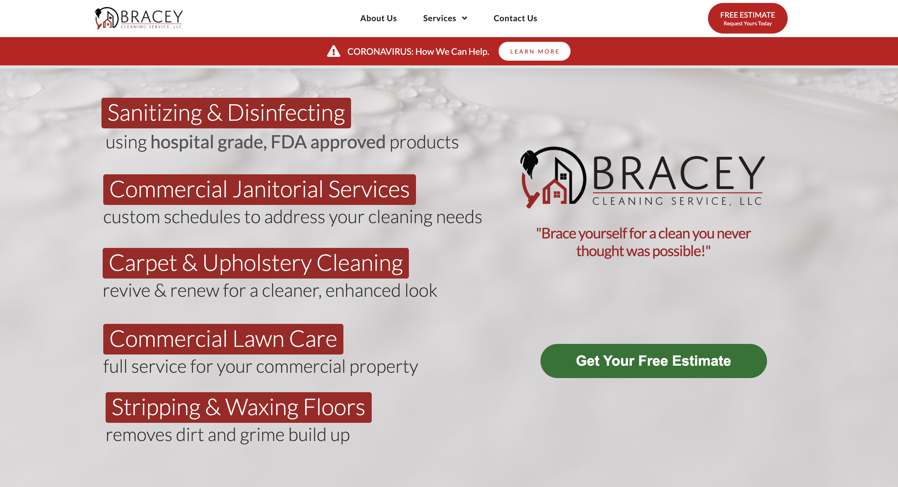 "Featured image for ""Bracey Cleaning Services"""